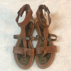 Lucky Brand lizard strappy sandals. 7.5